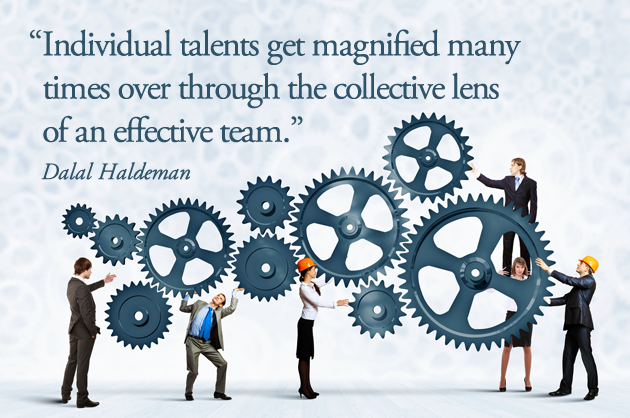 Individual talents get magnified in a team